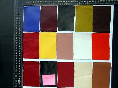 Brand New 15 piece GENUINE LEATHER SCRAPS, OFF CUTS for CRAFTS & HOBBIES-Lot A16