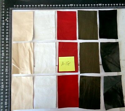 Brand New 15 piece GENUINE LEATHER SCRAPS, OFF CUTS for CRAFTS & HOBBIES-Lot A18