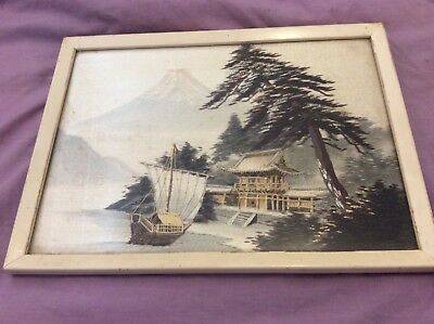 Framed Oriental Embroidery