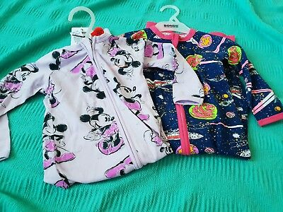 Bonds Disney Purple Mickey Starwars Wondersuits size 1 Nwt  lot set