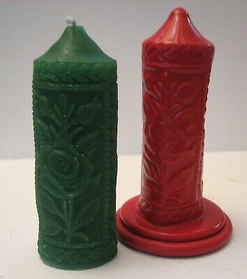 Z7458 Embossed Rose Candle - Rubber Latex Moulds by MouldMaster