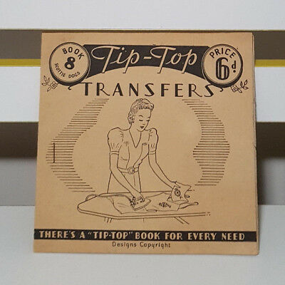 """Tip-Top Transfers! There's A """"Tip-Top"""" Book For Every Need! Vintage Iron On!"""