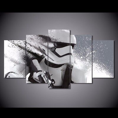 Star Wars Canvas 5pcs Stormtrooper Movie Poster Canvas Painting Wall Picture