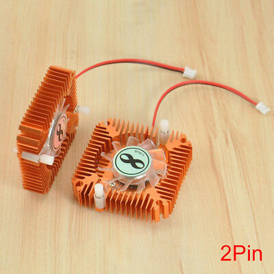 ALS_ 5.5cm 2Pin PC Computer Video Graphics Card Cooling Fan Cooler Heatsink Swee