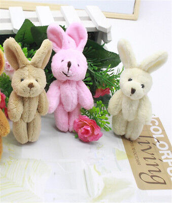 2 PC Wedding Gift Joint Rabbit Pendant Plush Stuffed TOY Soft Rabbit For Kid Ke