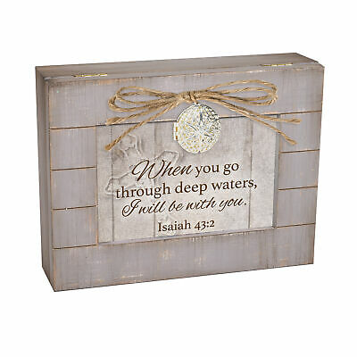 God Can Cover The World Teal Distressed Jewelry Music Box Plays How Great Thou Art
