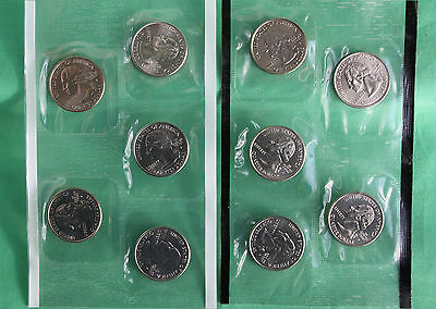 2000 P and D State Quarter 10 Coins from US Mint Set BU Statehood Cello 25c Coin
