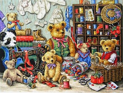 "DIMENSIONS GOLD COLLECTIONS""BUTTONS BEARS""CROSS STITCH KIT Kreuzstich STICKPACKU"