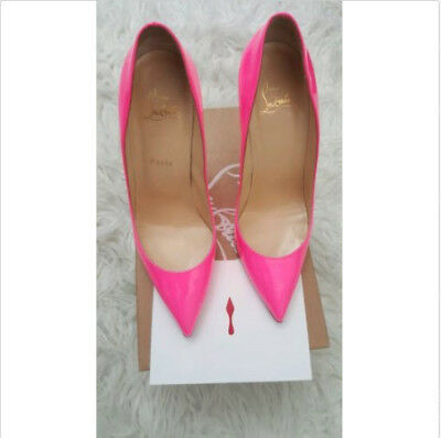 reputable site ca6ae 5738f CHRISTIAN LOUBOUTIN PRE-OWNED shocking pink pigalle 100mm Patent 9.5 US/  40.5EU