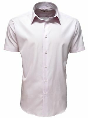 1c1b92f40 TAILLE M - Chemise Homme manches courtes Coton Luxe rose clair Marque  chemisette