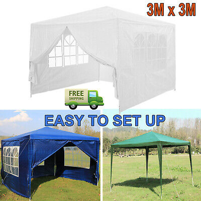 3 x 3m 130g PE Gazebo Canopy Waterproof Outdoor Garden Marquee Tent Side Panel
