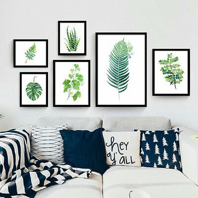 BL_ Modern Watercolor Plant Canvas Painting Palm Leaf Art Print Wall Poster Surp