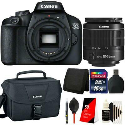 Canon EOS 4000D Rebel T100 18MP Digital SLR Camera + 18-55mm Lens Accessory Kit