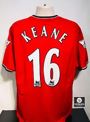 766e1b9b181 ROY KEANE MANCHESTER United Home Shirt 2001 2002 Ireland Celtic ...