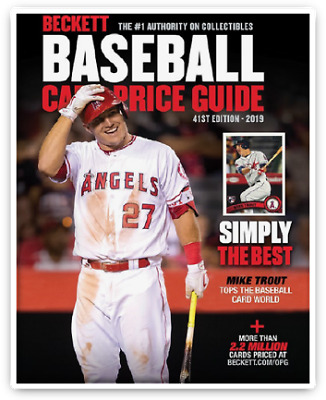 New Beckett Baseball Card 2019 Annual Price Guide #44 41Th Edition Mike Trout