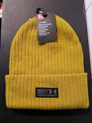 New Under Armour Mens Truck Stop ColdGear Acrylic Knit Cuff Beanie Hat Cap  OSFA ee424dabe83e