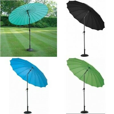 2.6M Tilting Parasol Shanghai Umbrella Garden Patio NEW 3 summer colours