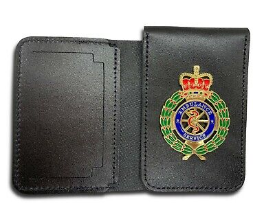Ambulance Service ID/Card Leather Holder Wallet - First Responder, Paramedic EMT