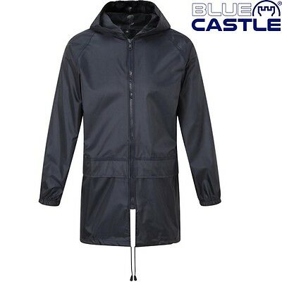 Blue Castle Tornado Kids Waterproof Jacket 3-13 Yrs Boys Girls School Rainwear