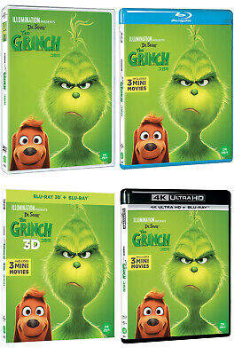 The Grinch - 4K, Blu-ray, 3D, DVD (2019) / UHD / Pick one!