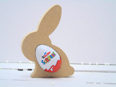 Bunny Rabbit Pack of 3 MDF Kinder Egg Holder Easter Gift Blank craft Shape