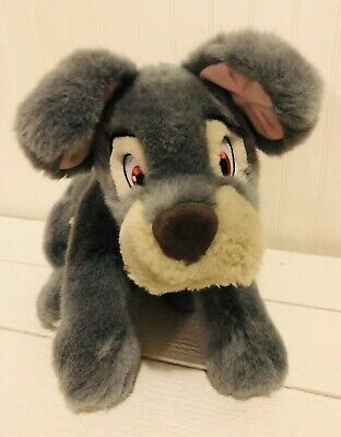 """Disney Lady And The Tramp Plush Scamp Dog Puppy 14"""" Stuffed Toy"""
