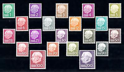 [70178] Germany SAAR Saarland 1957 Heuss I Compl. Set of 20 Values MNH