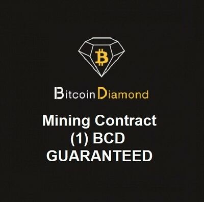 1 Bitcoin Diamond (BCD)  MINING CONTRACT (1 BCD)