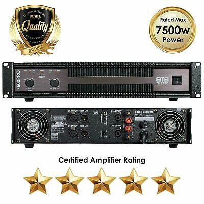 EMB 7500 Watts 2 Channel Professional Power Amplifier EB7500PRO AMP DJ PA Stereo