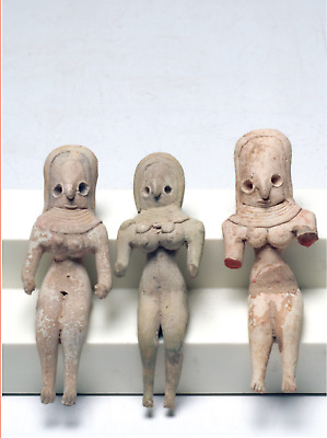 Three Indus Valley Fertility Idols Ca. 1800 B.C. Central Asia Early Goddess