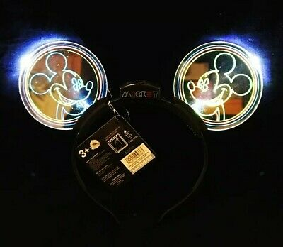 Disney Parks Exclusive Mickey Mouse Ear Headband Animated Glow Light Up NEW