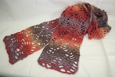 Crochet Kit- Raspberry Crochet scarf- yarns and pattern included- pretty easy.