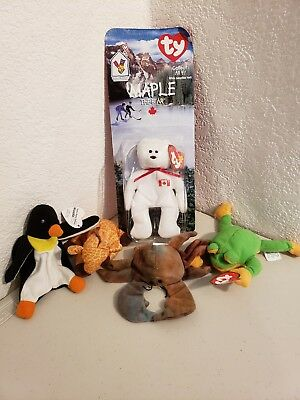 1993 1999 TY McDonald s teenie Beanie Babies Lot of 5 happy meal toys 066517f500b3