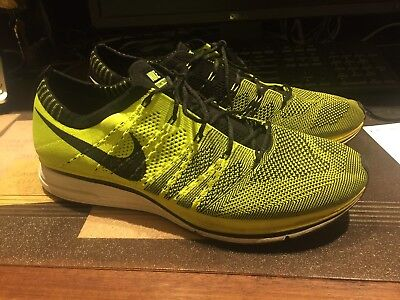 1f237aa5c5190 2012 Nike Flyknit Trainer Racer Volt Green Black Olympics 532984-700 size 12
