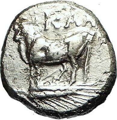 KALCHEDON in BITHYNIA Authentic Ancient 340BC Silver Greek Coin w BULL i76085