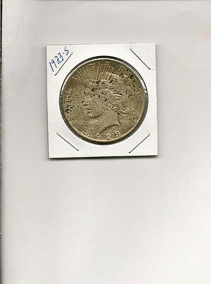 1923-S 90% Silver Peace Dollar Coin! Nice Details!