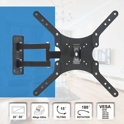 Articulating Full Motion TV Wall Mount Monitor Swivel LCD LED Tilt Bracket 22-50