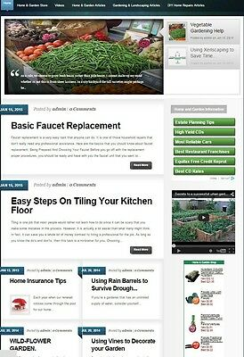 HOME and GARDEN WEBSITE BUSINESS FOR SALE! with TARGETED CONTENT INCLUDED
