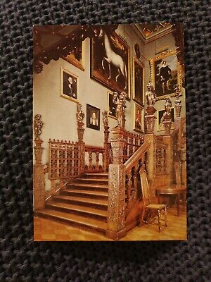 The Grand Staircase - Hatfield House - Vintage Postcard