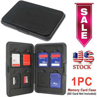 Waterproof 8 Micro SD/TF 8 SD Storage Holder Memory Card Protector Case US Stock