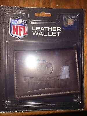 Nice NEW NFL TENNESSEE Titans Embossed Tri Fold Black Genuine Leather Men