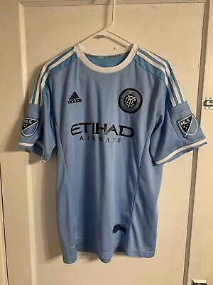 9dc8525cbd875 Authentic Adidas New York CIty FC NYCFC Climacool Home Jersey Sz L Mix  10  MLS