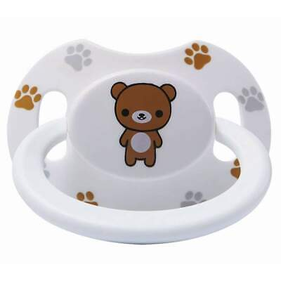 Baby Bear Pacis White Printed Bear Adult Pacifier (LittleForBig Bigshield Genera