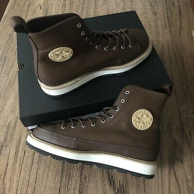 ca69b8856036 CONVERSE CT CRAFTED Boot HI Men Size 8.5 Chocolate Leather 162354C ...