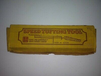 Vintage (NOS) Speed Tufting Tool w/ Box & Instructions made by Rug Crafters