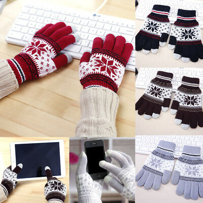 Girls Boys Kids Children Magic Gloves Mittens Stretchy Knitted Winter Warm