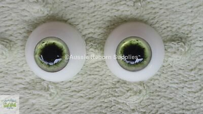 20mm Green w/ Black Pupils Zombie Eyes Acrylic for Reborn Unusual Doll