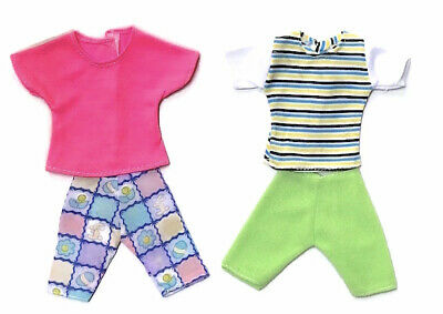 New Barbie Ken Doll outfit clothing clothes t/shirts shorts - set of 5 outfits