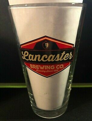 LANCASTER BREWING CO 16 oz Shaker Pint Craft Beer Glass Lancaster Pennsylvania