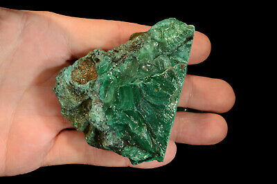 "Africa Malachite 3"" x 3"" 11 Oz Lapidary Rough Rock Mineral Heart Chakra Healing"